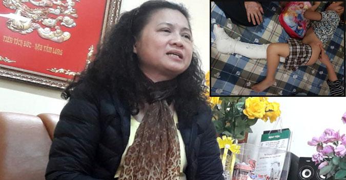 Có thể khởi tố vụ học sinh Nam Trung Yên bị gãy chân (21/02/2017)