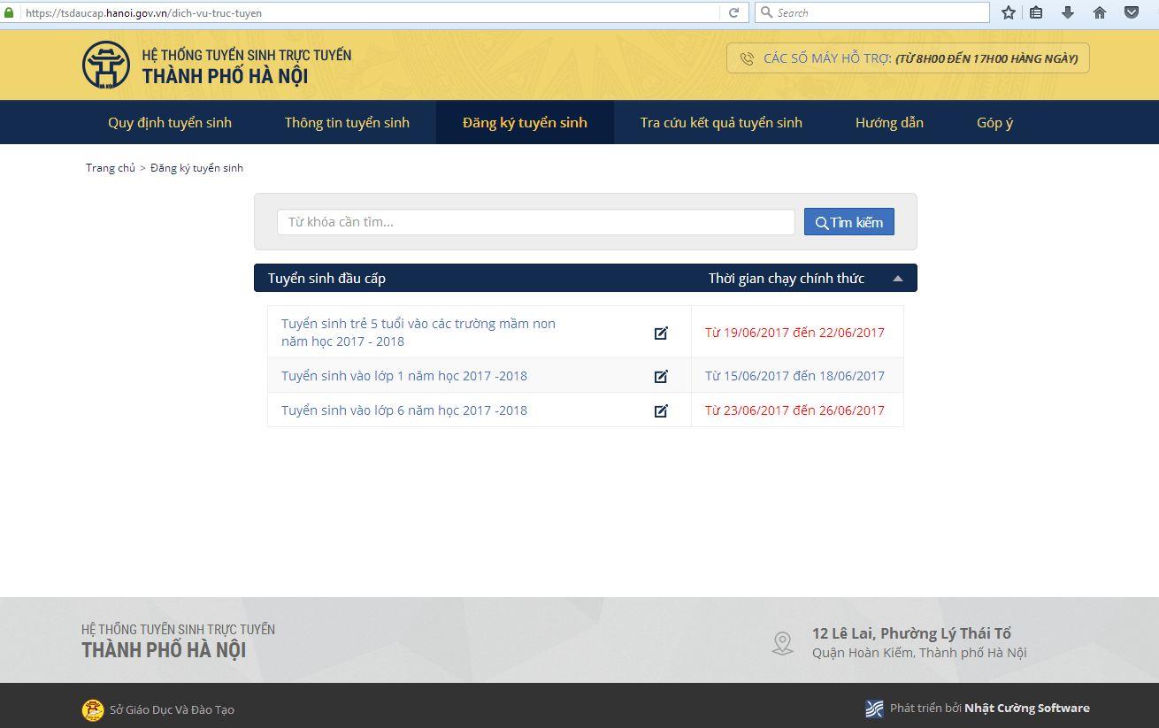 Từ hôm nay, cổng điện tử tuyển sinh trực tuyến của Hà Nội mở để phụ huynh đăng ký cho con vào các lớp đầu cấp (Thời sự trưa 15/6/2017)