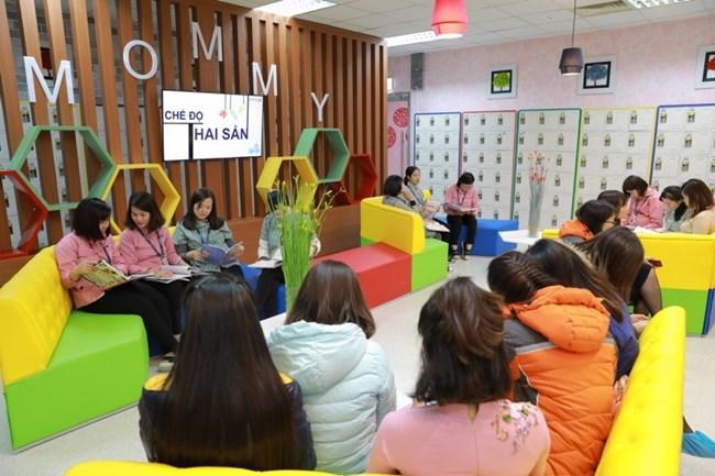 Tìm hiểu mô hình Mommy room: Phòng dành cho lao động nữ mang thai và nuôi con nhỏ của tập đoàn SamSung tại Bắc Ninh (10/11/2018)