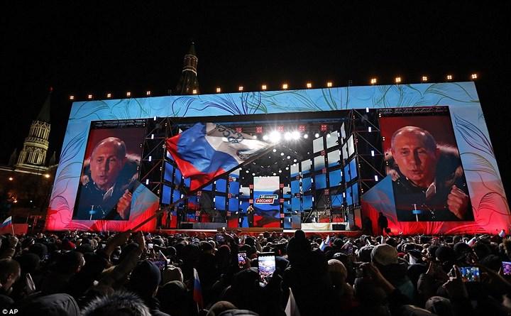 Giành chiến thắng vang dội, ông Putin tái đắc cử Tổng thống Nga lần thứ 4 (Thời sự trưa 19/3/2018)