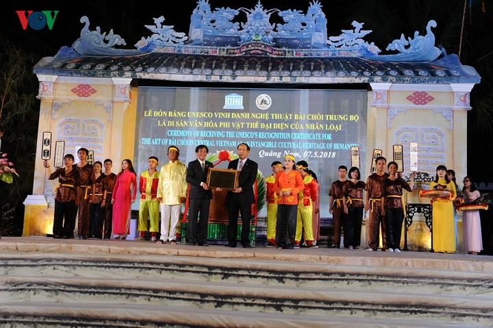 Nghệ thuật Bài Chòi Trung Bộ Việt Nam vừa được UNESCO công nhận là Di sản văn hóa phi vật thể đại diện nhân loại (Thời sự sáng 8/5/2018)