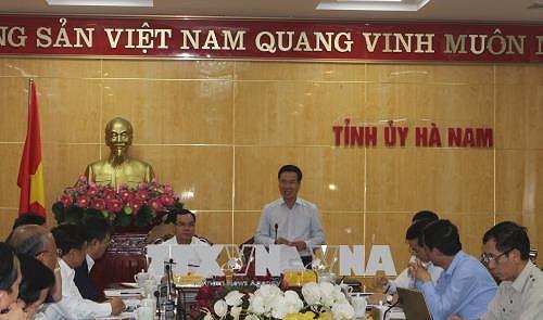 Thực hiện Nghị quyết Trung ương 4 ở Hà Nam (23/4/2019)