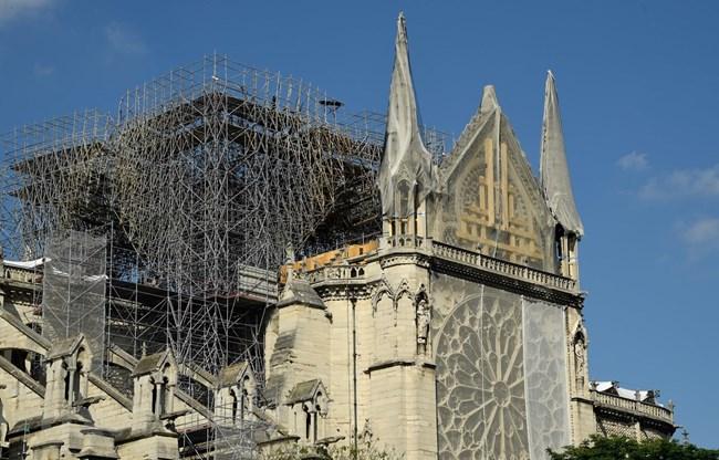 Khôi phục an toàn cho cấu trúc nhà thờ Đức bà Paris (20/8/2019)