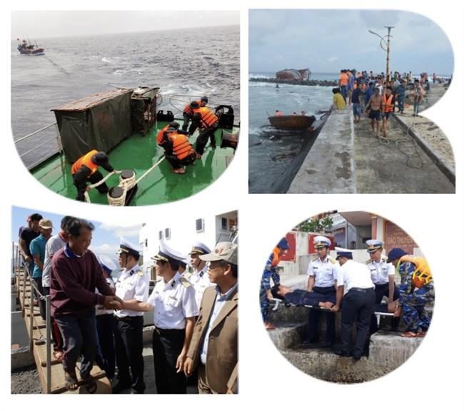 Vùng 4 Hải Quân điểm tựa cho bà con trên biển (13/10/2020).