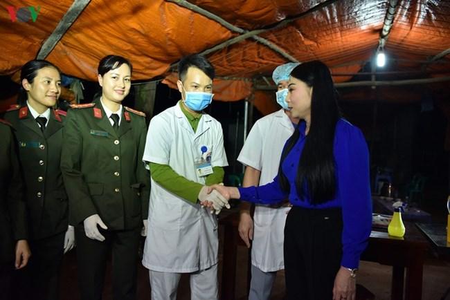 Người dân xã Sơn Lôi, huyện Bình Xuyên, tỉnh Vĩnh Phúc, trở lại cuộc sống bình thường sau 21 ngày cách ly do Covid-19 (4/3/2020)