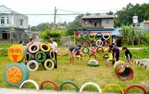 Sân chơi cho trẻ trong khu dân cư (28/6/2020)