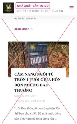 Cảnh giác với hoạt động núp bóng tự do xuất bản để chống phá Nhà nước Việt Nam (29/7/2020)