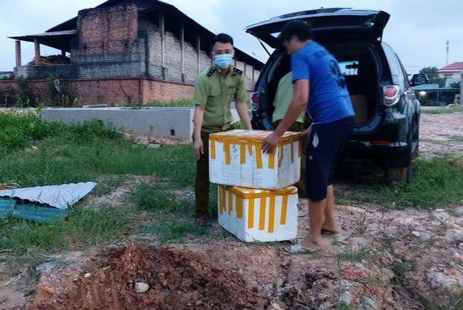 Quảng Ninh: phát hiện và xử lý thực phẩm không nhãn mác (27/05/2021)