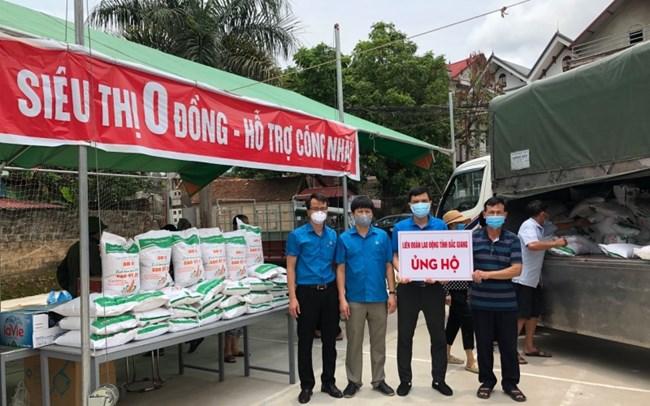 Siêu thị 0 đồng, hỗ trợ người dân tâm dịch Bắc Giang vượt qua khó khăn (03/06/2021)