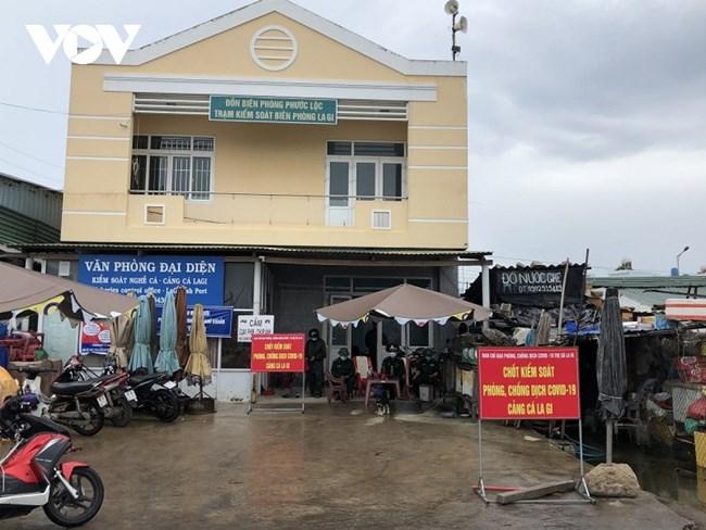 Bình Thuận tăng cường phòng chống dịch tại các cảng cá. (29/07/2021)