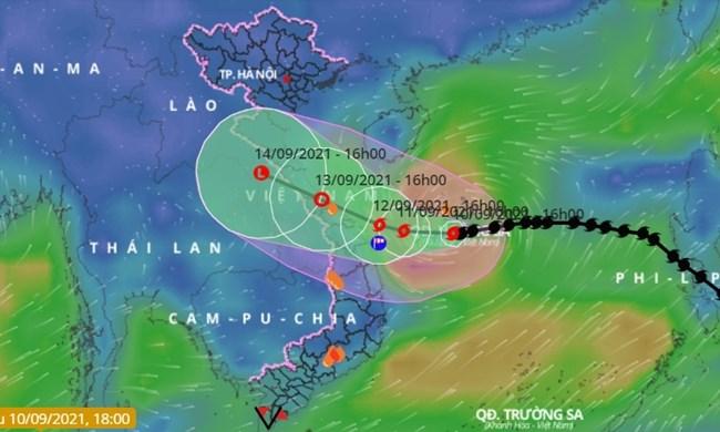 THỜI SỰ 18H CHIỀU 10/09/2021: Bão số 5 giật cấp 12 còn cách bờ biển Quảng Trị, Quảng Nam khoảng 380km