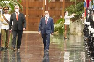 Lễ đón trọng thể Chủ tịch nước Nguyễn Xuân Phúc thăm chính thức Cuba (20/09/2021)